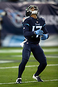 Tennessee Titans rookie wide receiver Cameron Batson (17) looks up while fielding a punt during the week 14 regular season NFL football game against the Jacksonville Jaguars on Thursday, Dec. 6, 2018 in Nashville, Tenn. The Titans won the game 30-9. (©Paul Anthony Spinelli)