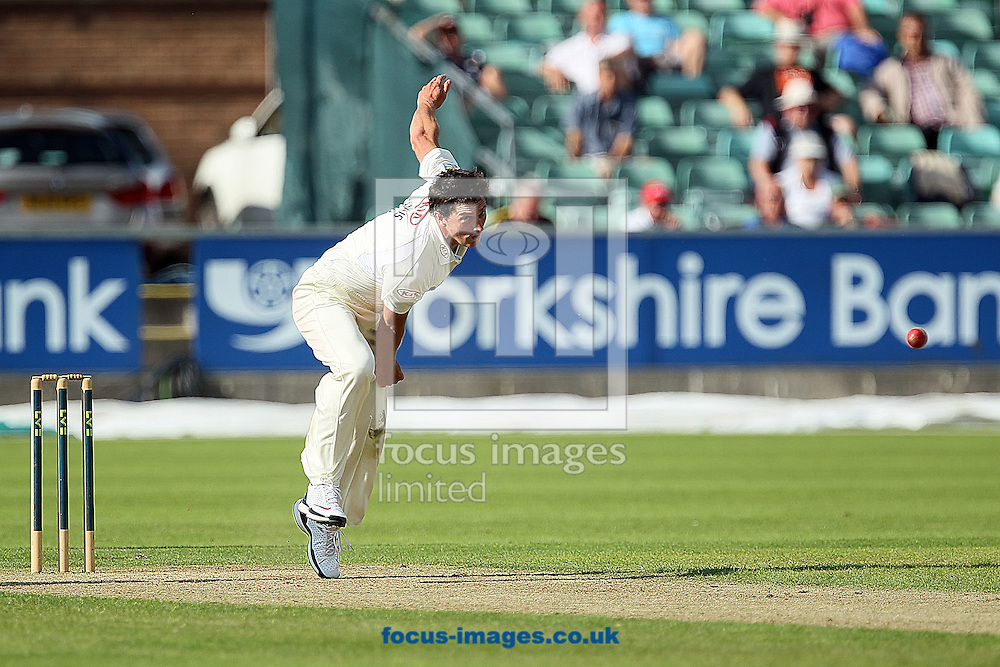Picture by Mark Fletcher/Focus Images Ltd +44 7752 571576.07/08/2012.Jon Lewis of Surrey County Cricket Club bowling against Durham during the LV County Championship Div One match at Emirates Durham ICG, Chester-le-Street.