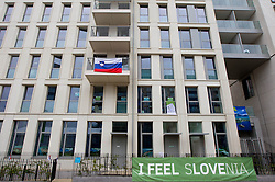 Slovenian house in Paralympic village during Day 2 of the Summer Paralympic Games London 2012 on August 29, 2012, in Pralympic village, London, Great Britain. (Photo by Vid Ponikvar / Sportida.com)