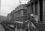 1916 Jubilee Commemorations -Parade and Ceremonies at the General Post Office on O'Connell Street..10.04.1966