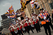 "Orangemen and women march in controversial Orange Order event dubbed ""Orangefest"" in Glasgow on June 6th 2015."