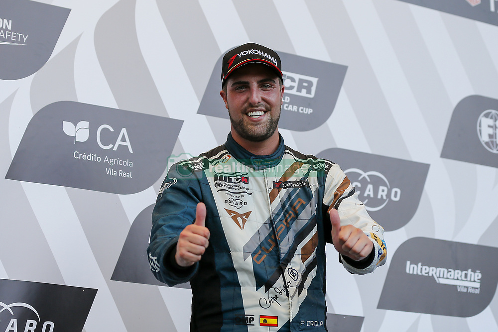 June 23, 2018 - Vila Real, Vila Real, Portugal - Pepe Oriola from Spain in Cupra TCR of Team OSCARO by Campos Racing celebrating the third place of race 1 in the podium ceremony of FIA WTCR 2018 World Touring Car Cup Race of Portugal, Vila Real, June 23, 2018. (Credit Image: © Dpi/NurPhoto via ZUMA Press)