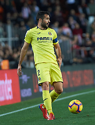 January 26, 2019 - Valencia, Valencia, Spain - Mario Gaspar of Villarreal CF during the La Liga Santander match between Valencia and Villarreal at Mestalla Stadium on Jenuary 26, 2019 in Valencia, Spain. (Credit Image: © Maria Jose Segovia/NurPhoto via ZUMA Press)