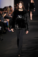 Katryn Kruger walks down runway for F2012 Prabal Gurung's collection in Mercedes Benz fashion week in New York on Feb 10, 2012 NYC