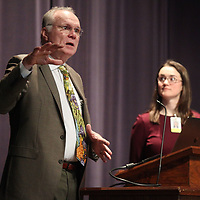Rob Picou, Tupelo Public School District Superintendent, speaks during a public meeting about the school district of innovation application Tuesday night at the Tupelo Civic Auditorium.