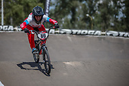 #89 (BONDARENKO Yaroslava) RUS during practice at round 1 of the 2018 UCI BMX Supercross World Cup in Santiago del Estero, Argentina.