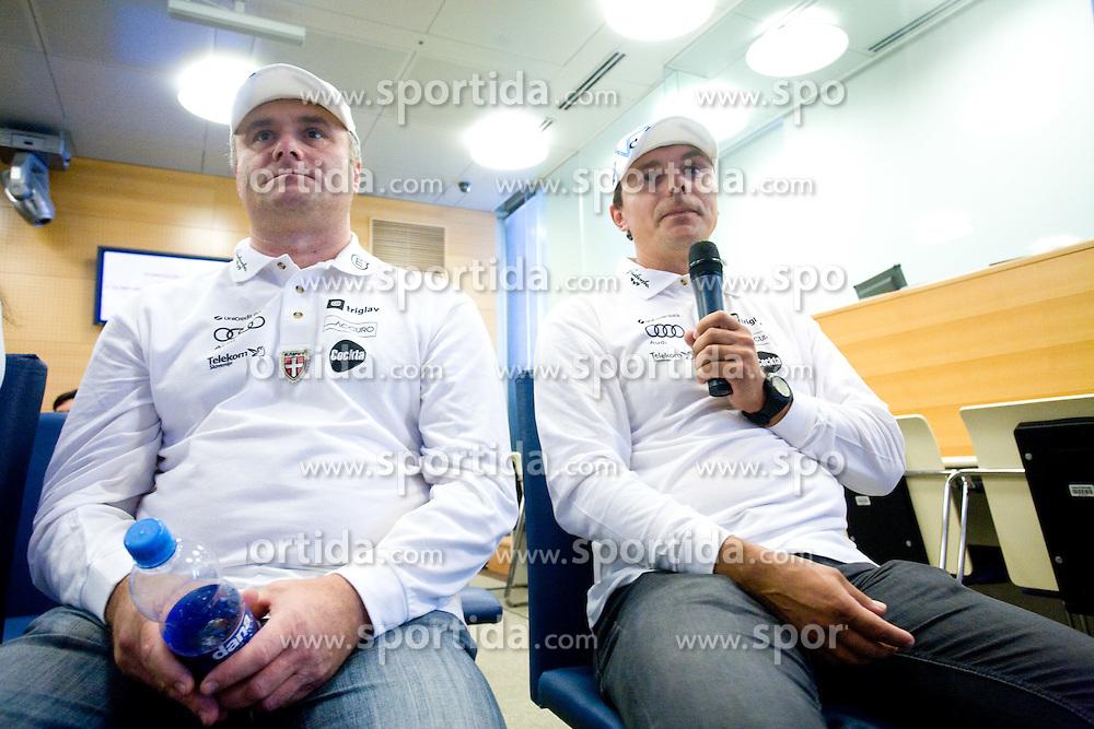Marko Gracer and Ivan Hudac at the 4th OKS press club with Slovenian nordic Olympic Candidates for Vancouver 2010,  on October 08, 2009, in Telekom Slovenija, Ljubljana, Slovenia.   (Photo by Vid Ponikvar / Sportida)