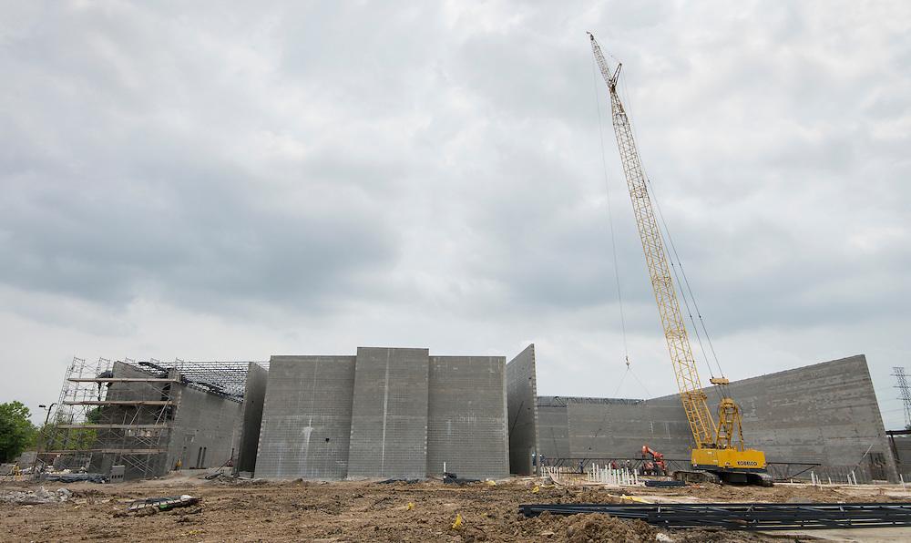 Construction at Furr High School, April 11, 2016.