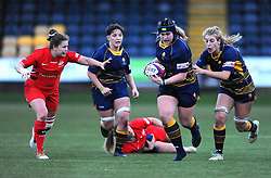 Jodie Rettie of Saracens Women chases down Lauren Leatherland of Worcester Valkyries- Mandatory by-line: Nizaam Jones/JMP - 01/12/2018 - RUGBY - Sixways Stadium - Worcester, England - Worcester Valkyries v Saracen Women- Tyrrells Premier 15s