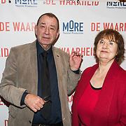NLD/Amsterdam/20190206- De Waarheid premiere, Ivo de Wijs en partner Elleke