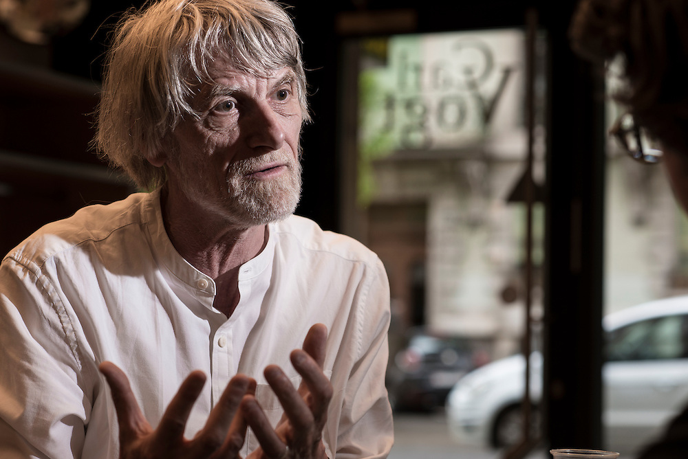 Philippe Van Parijs, philosophe et economiste belge. Initiateur du Revenu de Base Inconditionnel ( RBI ). Geneve, 26 Avril 2016 © Fred Merz | Lundi13