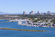View from Castaways Park Newport Beach California