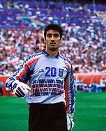 FIFA World Cup - USA 1994<br /> 26.6.1994, Soldier Field Stadium, Chicago, Illinois.<br /> Group D, Bulgaria v Greece.<br /> Ilias Atmatzidis - Greece