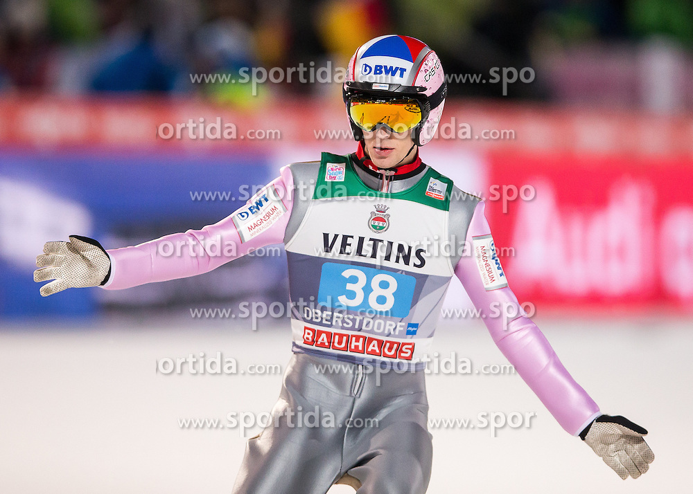 27.12.2016, Schattenbergschanze, Oberstdorf, GER, FIS Weltcup Ski Sprung, Vierschanzentournee, Oberstdorf, Probedurchgang, im Bild Vojtech Stursa (CZE) // Vojtech Stursa of Czech Republic during his Competition Jump for the Four Hills Tournament of FIS Ski Jumping World Cup at the Schattenbergschanze in Oberstdorf, Germany on 2016/12/27. EXPA Pictures © 2017, PhotoCredit: EXPA/ Peter Rinderer