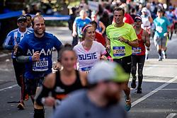 06-11-2016 USA: NYC Marathon We Run 2 Change Diabetes day 3, New York<br /> De dag van de marathon, 42 km en 195 meter door de straten van Staten Island, Brooklyn, Queens, The Bronx en Manhattan / Mads