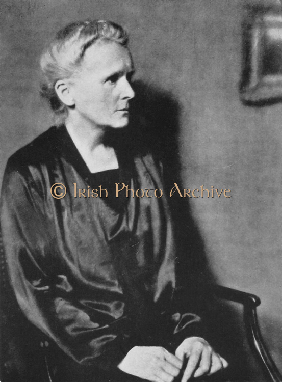 Marie Curie (1867-1934) Polish-born French physicist in 1929.