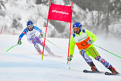 Super Combined and Super G, HARAUS Miroslav Guide: HUDIK Maros, B2, SVK at the WPAS_2019 Alpine Skiing World Championships, Kranjska Gora, Slovenia