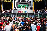 October 27-29, 2017: Mexican Grand Prix. Max Verstappen (DEU), Red Bull Racing, RB13, Valtteri Bottas (FIN), Mercedes AMG Petronas Motorsport, F1 W08, Kimi Raikkonen (FIN), Scuderia Ferrari, SF70H