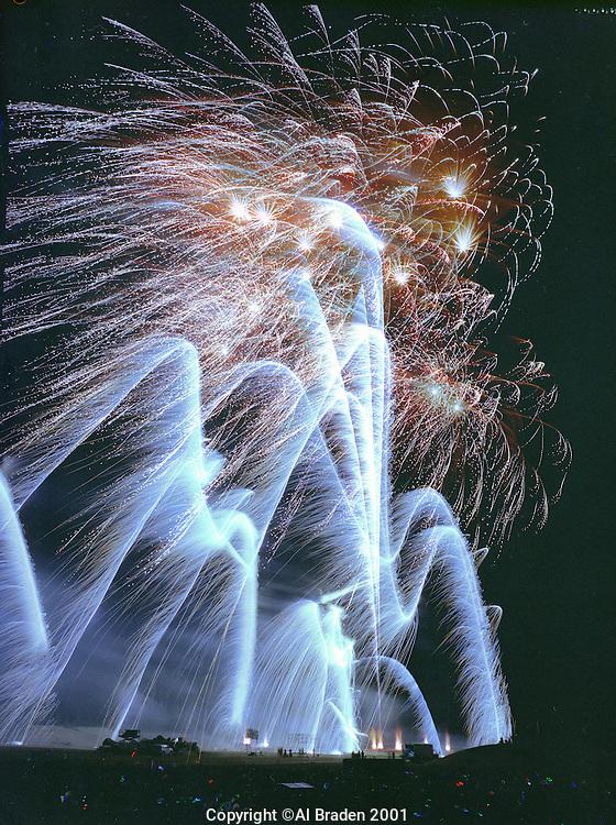 Fireworks display by Atlas Pyrovision in Jaffrey NH.