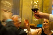 Photo by Matt Roth<br /> Assignment ID: 30148071A<br /> <br /> Friends and family offer a toast to David Hagedorn, a chef and food writer, and Michael Widomski, a spokesman for the National Weather Service, during their wedding reception at Fiola Restaurant in Washington, DC, Sunday, September 22, 2013.