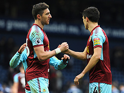 Stephen Ward of Burnley praises Jack Cork of Burnley at the final whistle - Mandatory by-line: Nizaam Jones/JMP - 31/03/2018 - FOOTBALL - The Hawthorns - West Bromwich, England - West Bromwich Albion v Burnley  - Premier League