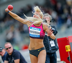 30.05.2015, Moeslestadion, Goetzis, AUT, 41. Hypo Meeting 2015, Siebenkampf der Frauen, Kugelstossen, im Bild Yana Maksimava (BLR) // Yana Maksimava of Byelorussia during the 41. Hypo Meeting Goetzis 2013, Women' s Heptathlon, Shot put, at the Moeslestadion, Goetzis, Austria on 2015/05/30. EXPA Pictures © 2015, PhotoCredit: EXPA/ Peter Rinderer