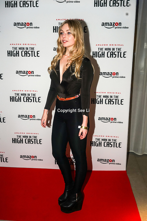 nell hudson attend the european premiere of season 2 of the man in the high castle