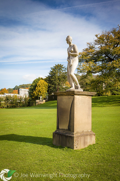 One of the many 19th century copies of antique statues that grace the gardens at Chatsworth House, Derbyshire.