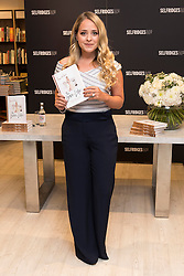 © Licensed to London News Pictures. 25/07/2016. International lifestyle blogging sensation Vlogger FLEUR DE FORCE launches her second book ' The Luxe Life at Selfridges store.  London, UK. Photo credit: Ray Tang/LNP
