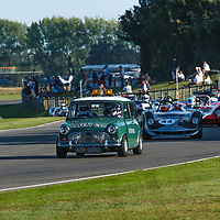 Mini 'Safety Car' at the start of the Whitsun Trophy at Goodwood Revival 2019