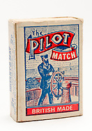 London, England - June 09, 2017: Box of Pilot Matches, Made by Bryant and May in England.