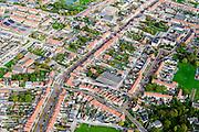 Nederland, Zeeland, Zeeuws-Vlaanderen, 19-10-2014; centrum Breskens met dorpsstraat richting Spuiplein (rechtsboven).<br /> Downtown Breskens with its mainstreet Villagestreet (Dorpsstraat).<br /> <br /> luchtfoto (toeslag op standard tarieven);<br /> aerial photo (additional fee required);<br /> copyright foto/photo Siebe Swart