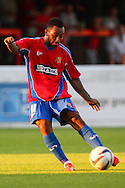 Will Grigg of Dagenham and Redbridge during the Pre Season Friendly match at the London Borough of Barking and Dagenham Stadium, London<br /> Picture by David Horn/Focus Images Ltd +44 7545 970036<br /> 22/07/2014