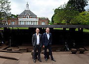 © Licensed to London News Pictures. 31/05/2012. London, UK Architechs Herzog (left) and De Meuron. The press preview today 31st May 2012, of The Serpentine Gallery Pavilion 2012, designed by Herzog & De Meuron and Ai Weiwei. The pavilion is the twelfth commission in the gallery's series of annual pavilions.. Photo credit : Stephen Simpson/LNP