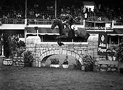 07/08/1980<br /> 08/07/1980<br /> 07 August 1980<br /> R.D.S. Horse Show: John Player International, Ballsbridge, Dublin. Captain Gerry Mullins (Ireland) on &quot;Rockbarton&quot;.