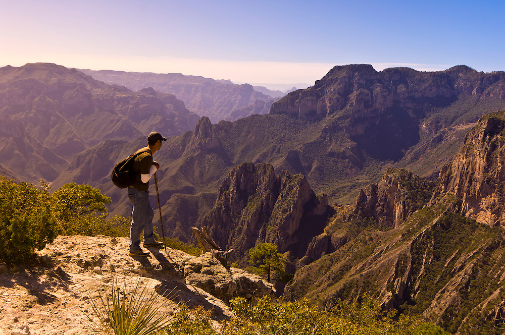 Hiking in the Copper Canyon, near the Uno Lodge (near San Rafael), Mexico