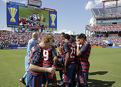 July 8, 2017 - Nashville, TN, USA - Nashville, TN - Saturday July 08, 2017: USMNT during a 2017 Gold Cup match between the men's national teams of the United States (USA) and Panama (PAN) at Nissan Stadium. (Credit Image: © John Dorton/ISIPhotos via ZUMA Wire)