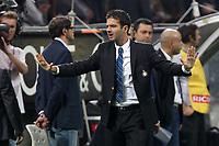"""Esultanza Andrea Stramaccioni Inter<br /> Celebration<br /> Milano 07/10/2012 Stadio """"San Siro""""<br /> Football Calcio Serie A 2012/13<br /> Milan v Inter<br /> Foto Insidefoto Paolo Nucci"""