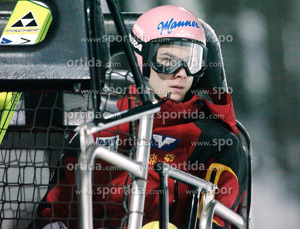 01.02.2011, Vogtland Arena, Klingenthal, GER, FIS Ski Jumping Worldcup, Team Tour, Klingenthal, im Bild ..Manuel Fettner, AUT im Lift // in the lift during the FIS Ski Jumping Worldcup, Team Tour in Klingenthal, Germany, EXPA Pictures © 2011, PhotoCredit: EXPA/ Jensen Images/ Ingo Jensen +++++ ATTENTION +++++ GERMANY OUT!