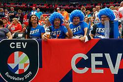 13-09-2019 NED: EC Volleyball 2019 Czech Republic - Ukraine, Rotterdam<br /> First round group D / Estonian support