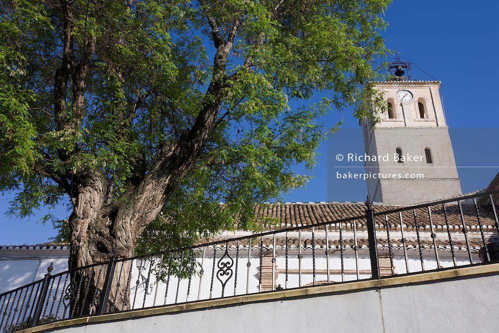 Small Spanish church in village of Cogollo Vegas, municipality of Granada, Spain, Andalucia.