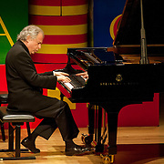 May 5, 2012 - New York, NY : Pianist András Schiff, seated, performs Robert Schumann's 'Kinderszenen (scenes from Childhood), Op. 15 (1838)' at Zankel Hall on Saturday evening as part of a program that included the Salzburg Marionette Theater (not pictured -- they did not perform during this piece). CREDIT: Karsten Moran for The New York Times
