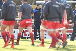 Bristol Rugby Forwards coach, Mark Bakewell watches players warm up  - Mandatory byline: Joe Meredith/JMP - 28/02/2016 - RUGBY - Headingley Stadium -Leeds,England - Yorkshire Carnegie v Bristol Rugby - Greene King IPA Championship
