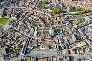 Nederland, Zeeland, Zeeuws-Vlaanderen, 19-10-2014; centrum Terneuzen onder het midden de Noordstraat (met kerk). Geheel onder De Markt.<br /> Downtown Terneuzen  with its mainstreet Noordstraat.<br /> luchtfoto (toeslag op standard tarieven);<br /> aerial photo (additional fee required);<br /> copyright foto/photo Siebe Swart