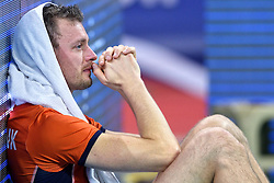 Jeroen Rauwerdink #10 disappointed after the volleyball match between National teams of Netherlands and Slovenia in Playoff of 2015 CEV Volleyball European Championship - Men, on October 13, 2015 in Arena Armeec, Sofia, Bulgaria. Photo by Ronald Hoogendoorn / Sportida