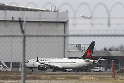 VANCOUVER, March 13, 2019  An Air Canada Boeing 737 Max 8 aircraft is seen at a maintenance building at Vancouver International Airport in Richmond, Vancouver, Canada, March 13, 2019. Canada is grounding all its Boeing 737 Max 8 aircraft and banning the jets from its airspace following the Ethiopian Airlines crash that killed all 157 people on board, including 18 Canadians. (Credit Image: © Liang Sen/Xinhua via ZUMA Wire)