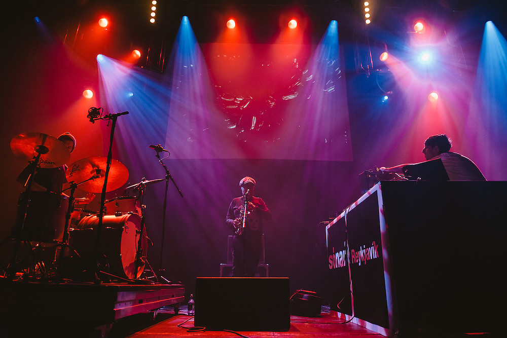 Photos of James Holden performing live during Sónar Reykjavík music festival at Harpa concert hall in Reykjavík, Iceland. February 15, 2014. Copyright © 2014 Matthew Eisman. All Rights Reserved