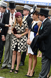 Left to right, PRINCESS BEATRICE OF YORK and SAMANTHA BARKS at the Investec Derby 2013 held at Epsom Racecourse, Epsom, Surrey on 1st June 2013.