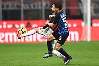Suso Milan, Yuto Nagatomo Inter <br /> Milano 27-12-2017 Stadio Giuseppe Meazza in San Siro Calcio Coppa Italia Milan - Inter foto Image Sport/Insidefoto