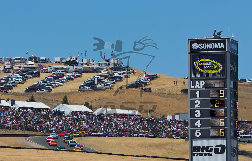 SONOMA, CA - JUN 24, 2012:  The NASCAR Sprint Cup Series take to the track for the Toyota Save Mart 350 at the Raceway at Sonoma in Sonoma, CA.